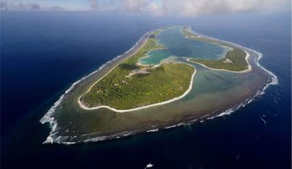 Foto de la isla de Nikumaroro