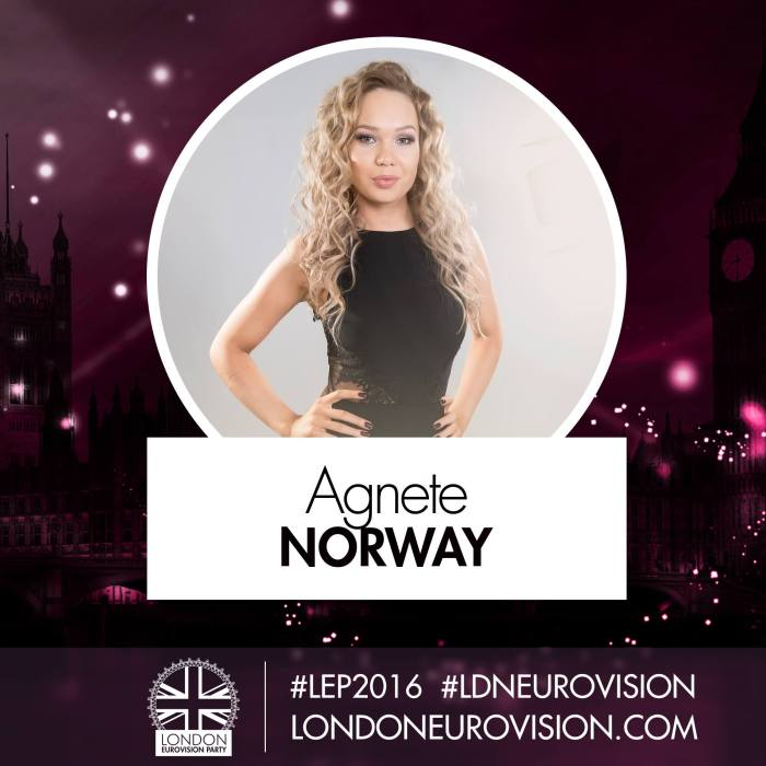 Agnete / Norway - London Eurovision Party 2016