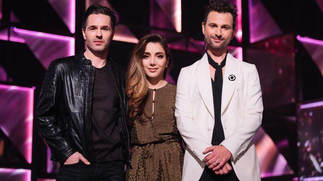 Gina Dirawi, Ola Salo and Peter Jöback - Melodifestivalen 2016, Andra chansen hosts