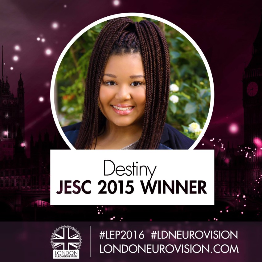 Destiny Chukunyere - Malta JESC 2015 / London Eurovision Party 2016