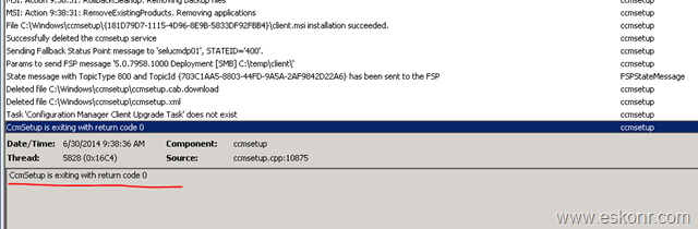 Sccm configmgr 2012 ccmsetup installation failed error exitcode 1638