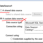 SCCM Configmgr 2012 How to change Custom Data source to Shared Data Source for multiple SSRS reports