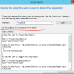 SCCM 2012 Deployment How to change security permissions to specific folder using icacls with Application Detection rules