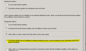 SCCM Configmgr 2012 R2 SP1 download content from Microsoft updates causing client stuck at downloading policies