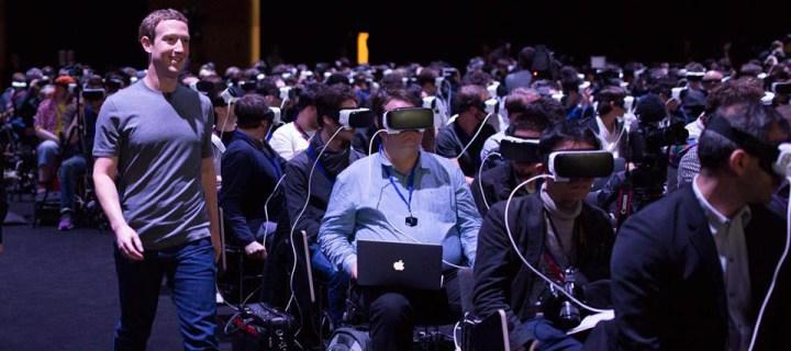 Imagen de Mark Zuckerberg en el MWC subida a su perfil de Facebook