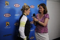 Pam Shriver and Kim Clijsters - Australian Open - January 21, 2012