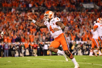 Tampa, FL - January 10, 2017 - Raymond James Stadium: Deshaun Watson (4) of the Clemson University Tigers during the 2017 CFP National Championship Game Presented by AT&T (Photo by Phil Ellsworth / ESPN Images)