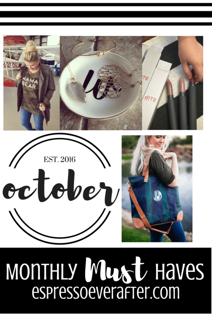 Monthly MUST Haves - October