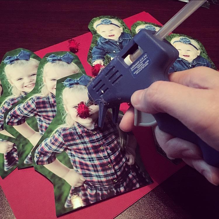 Getting Christmas Crafty   Reindeer Photo Gift