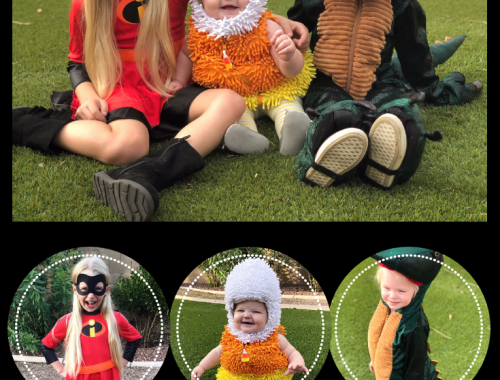 Halloween Costumes 2018! Our trip down Halloween costume memory lane and good costume ideas for kids and babies! (Violet Incredible, Candy Corn & Dinosaur)