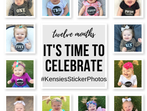 Thanks to the help of Instagram #hastags ... I was able to keep a month-by-month milestonekeepsake for Kensie, which can be found at#KensiesStickerPhotos.
