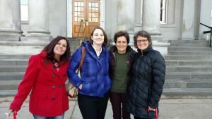 From left to right, Bella, Elizabeth Edwards, Rachel West + Phoebe Jones