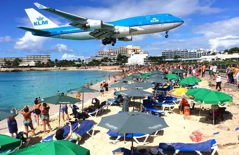 Aeroporto de Saint Maarten, o mais impressionante do Caribe