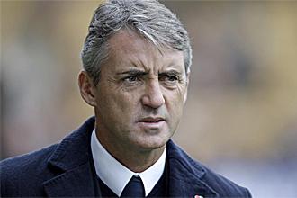 Roberto Mancini, técnico del Manchester City