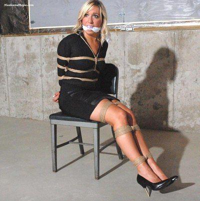 high heels tied up