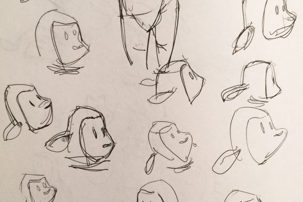 Character design, facial expressions for a lapsed children's book.