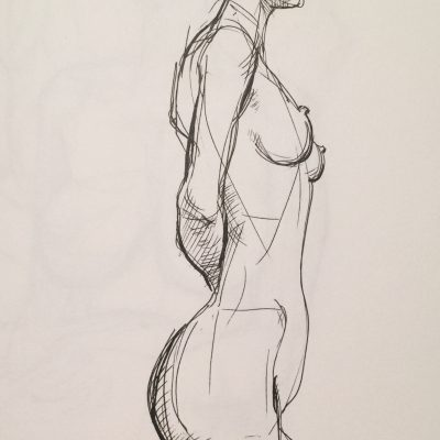 20 minute pose, Society of Illustrators