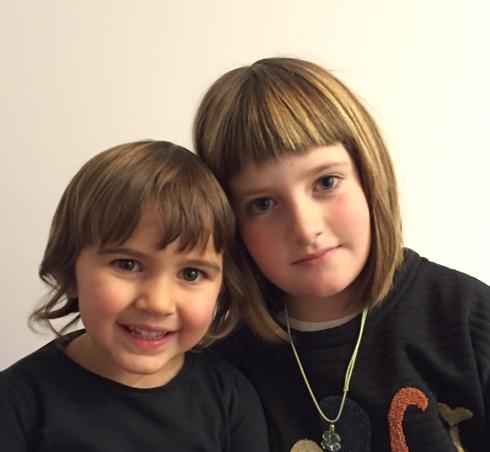 Maialen, 4 urte eta Nora, 8 urte
