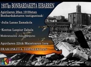 """""""1937ko Bonbardaketa Eibarren"""" erakusketa @ Topalekuan"""