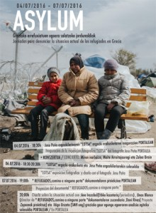 Asylum, errefuxiatuen egoera salatzeko proiektua @ Portalea kultur etxea
