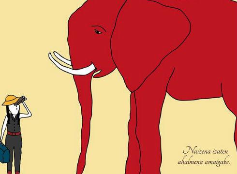 elefante-gorria