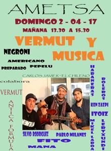 Bermut eta musika jaia @ Ametsa tabernan