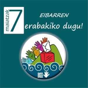 """Maiatzak 7: """"Eibarren erabakiko dugu"""" (Gure Esku Dago)"""