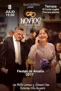 """Mikroantzerkia: """"Novios"""" @ El Corte Ingleseko terrazan, 3. pisuan (euria egingo balu, 5. pisuko kafetegian))"""