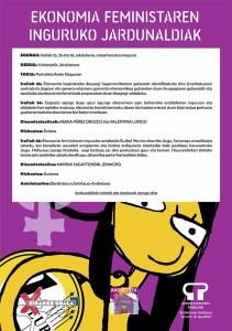 Ekonomia Feministaren inguruko jardunaldiak @ Portalean (areto nagusian)
