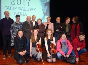 Atzo  jaso  zuen  Felix  Etxeberria  elgoibartarrak  Gure  Balioak  Saria  2017