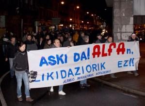 Manifestazioa deitu dute gaur arratsalderako Alfa, Edesa eta Geyser lantegikoek elkarrekin