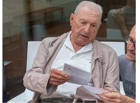 100 urte bete ditu gaur Miguel Gallastegi pilotari handiak