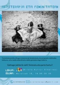 """Tailerra: """"Arteterapia eta feminitateak"""" @ Arrate Kultur Elkartean"""