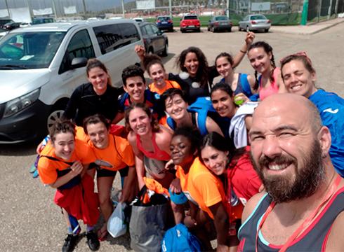 Eibar Rugby Taldeko neskak bigarren izan dira zazpiko errugbiko Nazio Txapelketan