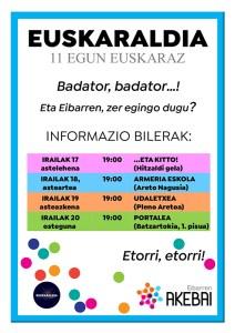 Euskaraldia: informazio bilerak @ Portalea (Batzartokia, 1. pisua)