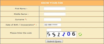 How to Know PAN Card Number by Name and Date of Birth?