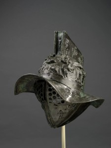 Gladiator Helmet. Bronze. With permission of the Superintendence for the Archaeological Heritage of Naples (SAHN). MANN 5671. ©ROM 2015.