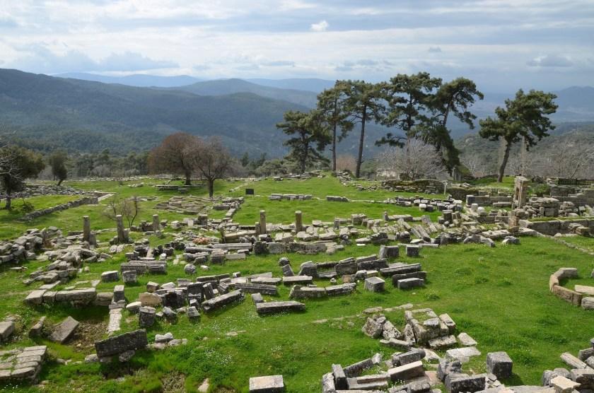 The Sanctuary of Zeus Labraundos at Labraunda overlooking the plain of Milas, Caria, Turkey. Photo © Carole Raddato.