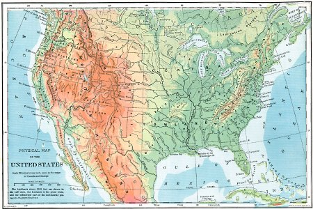 pics photos physical features the continental united states