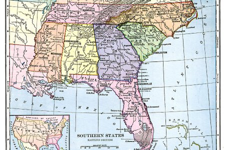 Map Of The Southeastern States - Map southern states us