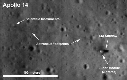 Equipamentos deixados na Lua pela missão Apollo 14
