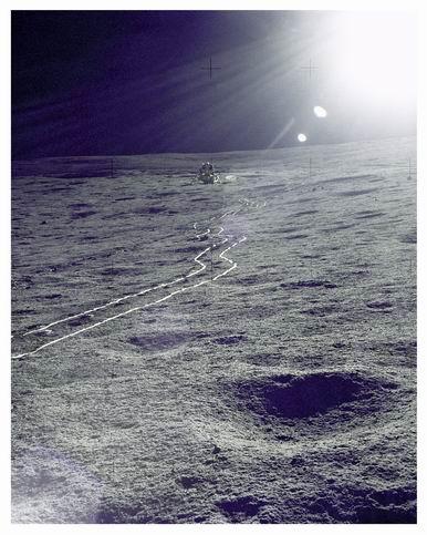 Trilha deixada pelo ALSEP da Apollo 14