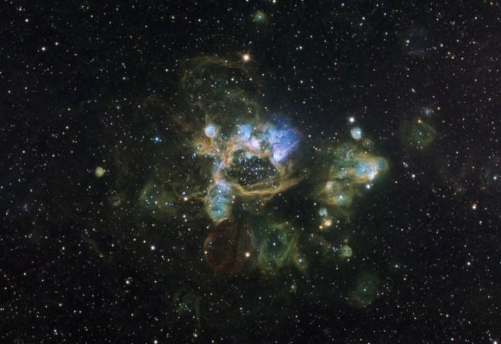 A nebulosa de emissão N44 - crédito: Don Goldman