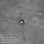 LRO atingiu sua órbita destino e fotografou a bandeira deixada na Lua pela Apollo 17