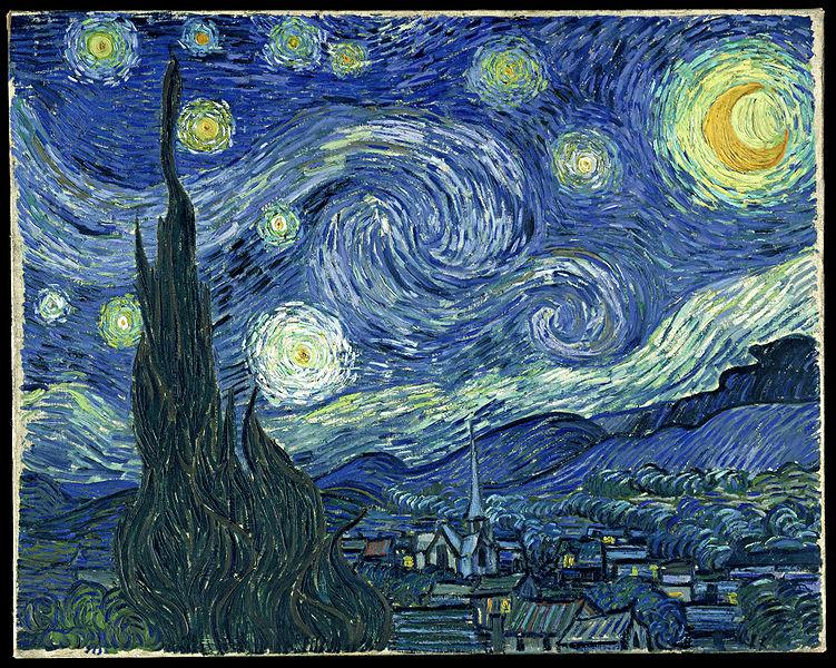 """Uma """"Noite Estrelada"""" por Vicent Van Gogh"""