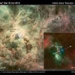 Estrela superveloz em fuga revela segredos da Nebulosa da Tarântula, na Grande Nuvem de Magalhães