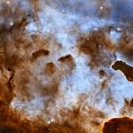 Hubble revela figuras obscuras que espreitam na Nebulosa Carina