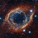 Close da nebulosa da Hélice. Crédito: ESO