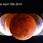 Fantástica sequência de imagens do eclipse lunar total de 15 de abril de 2014