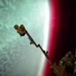 As cores da aurora planetária vista pela Estação Espacial Internacional
